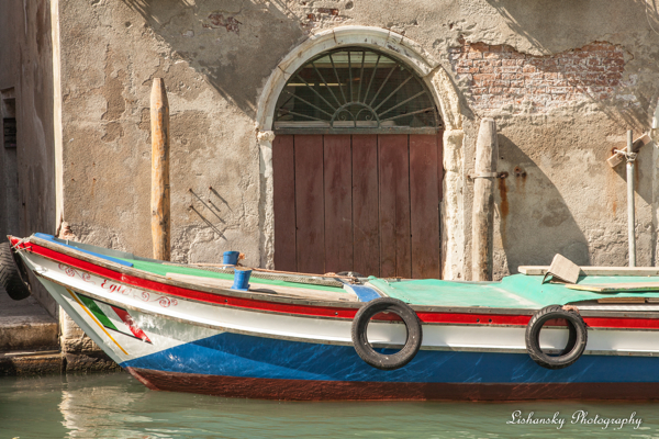 Venice, Boat by Lishansky Photography